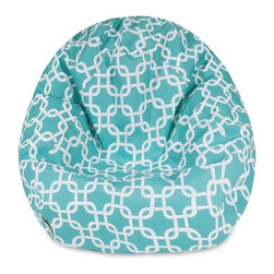 Majestic Home Goods - Teal Links Small Classic Bean Bag -