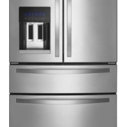 """Whirlpool - WRX735SDBM 36"""" Stainless Collection  25 cu. ft. French Door Refrigerator with Ex - The Whirlpool WRX735SDBM 25 Cu Ft capacity French Door refrigerator in monochromatic stainless steel with external refrigerated drawer can keep frequently used items close at hand and match cooling to the food being stored The full-extension drawer m..."""