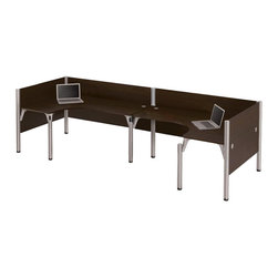 Bestar - Bestar Pro-Biz Double Back to Back L-Desk in Chocolate - Bestar - Computer Desks - 100857A69 - Smart design proven durability harmoniously combined with easy assembly in the Pro-Biz collection.