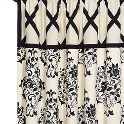Evelyn Curtain Panel - This drapery is bold but delicate at the same time. I would use it in a bedroom or any room that needs a little feminine touch.