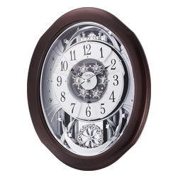 RHYTHM - Anthology Espresso Magic Motion clock - The Anthology Espresso is a remarkably true combination of visuals and harmonic quality