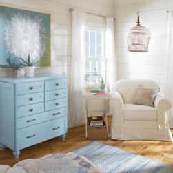 Custom Blue Dresser by Decora - Custom blue dresser by Decora Cabinets.