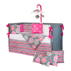 Glenna Jean - Addison Baby Crib Bumper by Glenna Jean - The Addison Baby Crib Bumper by Glenna Jean, along with the Addison bedding accessories.