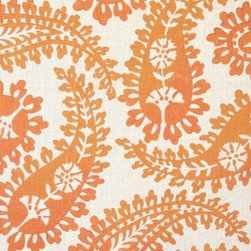 Big Paisley Fabric - Talk about a focal point! This modern take on my favorite '70s pattern, paired with a minty-green wall color, speaks anything but vintage. Absolutely my newest favorite color: Apricot.