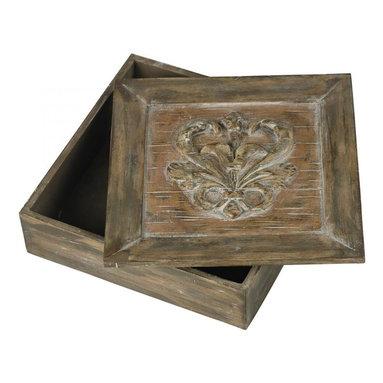 Sterling Industries - Reclaimed Fleur De Lis Artifact Box - Reclaimed Fleur De Lis Artifact Box
