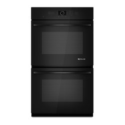 """Jenn-Air 30"""" Double Electric Wall Oven, Black On Black 