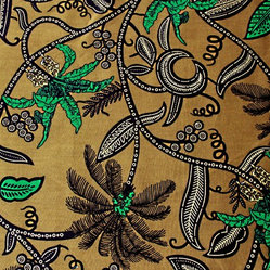 Artisanal Fabric - Transform your home into a tropical paradise with this hand-printed cotton fabric, made by a women's co-op in Ghana using traditional techniques. Buy one yard to make some tea towels, or more for curtains, throw pillows, colorful shirts — whatever you can imagine!