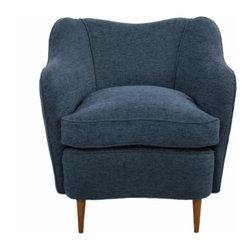 ecofirstart - Stylish Italian Armchair - Italian sculptural armchair of of 1950 elegant design.