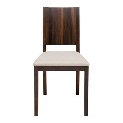 Nuevo Living - Obi Dining Chair in Solid Seared French Oak by Nuevo - HGSR131 - The Obi Dining Chair in Seared Oak features solid French white oak and a creamfabric seat consisting of 70% viscose and 30% polyester.