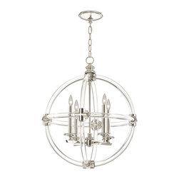 Fine Art Lamps - Fine Art Lamps 845840 Grosvenor Square Polished Nickel Pendant - Fine Art Lamps 845840 Grosvenor Square Brass Pendant