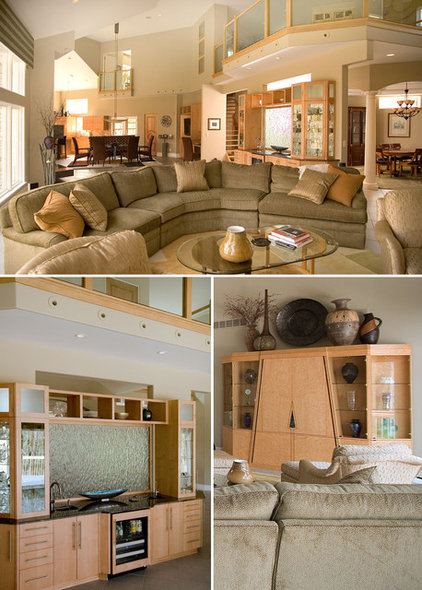 Contemporary Family Room by Martin Bros. Contracting, Inc.