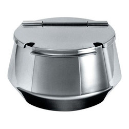 Alessi - Alessi Round Bar Sugar Bowl - Keep your sugar crumbly and soft by storing it in this modern, stainless steel sugar bowl. The semicircle lid openings leave space for a mini sugar spoon or two, making it that much easier to complete your morning coffee routine.