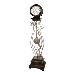 Howard Miller - Howard Miller Tennille Floor Clock In Antique Nickel Finish - Howard Miller - Floor Clocks - 615064