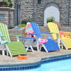 Adirondack Chairs - Our new folding adirondack chairs in tropical on white two-tones set the stage for a fun pool party. These will be available for 2015 at your local Berlin Gardens dealer.