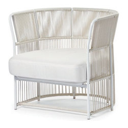 Varaschin - Varaschin Tibidabo Armchair, Low - At Varaschin we re-discover history to create the future by merging ancient craft and modern aesthetic. Founded in 1969 when Ugo Varaschin laid the foundations of weaving wicker and rattan from exotic places with careful attention to detail and constant research into aesthetics. The turning point came when a group of internationally renowned designers became involved to create unique collections featuring essential elegance.
