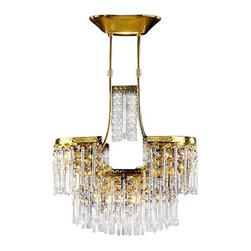 Alan Mizrahi - AM4401 / 24K Gold Plated / Pure Full Led Crystal, 24k Gold, 10W x 24 Long X 36H - AM4401 / 24K Gold Plated / Pure Full Led Crystal / 110v 12 Light 40 wattage Each