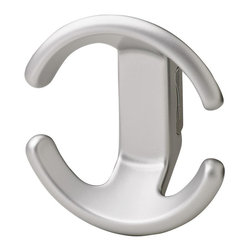 Hafele - Bella Italiana Coat Hook - Warranty: One yearMade from zinc. Matte aluminum color. Made in Italy. 4 in. W x 1.94 in. D x 4.32 in. HHafele closet hardware is designed with convenience and style for customers and the quality they expect.
