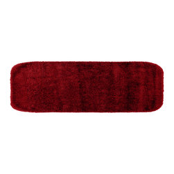 None - Plush Deluxe Chili Pepper Red 22 x 60 Bath Runner - Relish the luxurious softness of the Plush Deluxe bathroom collection that adds a note of tasteful color to the bathroom space. The nylon construction is easy to clean and the rug also features the added safety of non-skid backing.