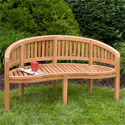 Orlando 5 ft Teak Bench - Add this stunning and unique looking bench to your back patio or garden area for a lovely sitting area. This bench is made of teak wood, making it low maintenance and weather resistant.