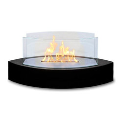 Anywhere Fireplaces - Anywhere Fireplace Lexington, Tabletop - Forget about candles and other table top accents to add ambiance. The Lexington model Anywhere Fireplace brings you all the tabletop elegance you are looking for with its distinctive shape, high gloss black finish and its real flames. Easy to move to anywhere you want to enjoy the ambiance of a real fire but without the hassle of smoke, melting wax, soot, ash, smell etc. Use it on the dinner table or a coffee table. The possibilities are endless with the Lexington from Anywhere Fireplace. It will suit any decor and enhance any dinner party. Makes a great gift too. NEVER SUBSTITUTE ANY OTHER FUEL IN PLACE OF LIQUID FUEL FOR VENTLESS FIREPLACES. ALWAYS READ ALL INSTRUCTIONS ON YOUR FIREPLACE AND THE FUEL BOTTLE