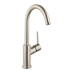 Hansgrohe - Hansgrohe 32082821 Talis S Single Hole Faucet in Brushed Nickel - Single Hole Faucet in Brushed Nickel belongs to Talis Collection by Hansgrohe The Hansgrohe Talis S Single Hole 1-Handle Mid-Arc Bathroom Faucet in brushed nickel delivers a sleek look in chrome to provide your bath or powder room with an easy-to-use fixture, thanks to its single-handle design. The mid-arc spout helps afford optimal clearance for ease of use. A ceramic disc cartridge helps provide drip-free usage for added convenience.  Faucet (1)