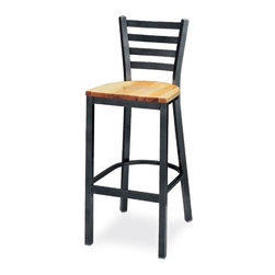 """Grand Rapids Chair - Melissa Anne Ladder Back Barstool (24"""" - 36"""" Seats) (Set of 3) - A tremendous variety of back options lets you achieve a distinctive look for your Melissa Anne Cross Back Side Chair. Perfect for a cafe, restaurant, or office, this chair will look great wherever you decide to put it. Match it with a barstool for a complete set. All Grand Rapids chairs and barstools are highly customizable, so be sure to check out all the options listed. Please call if you dont see anything that meets your needs, because there's a good chance that Grand Rapids can make any product suit your preferences. Features: -Metal chairs are manufactured from high quality plating grade steel-significantly stronger than the industry standard. -Hand tailored, coped and brazed joints to maximize strength and prevent rust. -Oven-baked epoxy/polyester finish. -Two inches of HR (High Resilience) foam, considered the Cadillac of cushioning. -Made in the USA. -Constructed for commercial/restaurant usage. -Premium carpet glides. -Seat Height  If you need a specific height that is not listed be sure to call. -Upholstery  Grand Rapids carries many fabric options, if you do not see anything to your liking or have your own fabric, please call and one of our customer service representatives will assist you with your order. -CAL 133  If you need any of Grand Rapids chairs to meet California bulletin 133 please call. -CAL 117 Standard. Dimensions: -Seat height: 29.75"""". -Seat: 18"""" H x 17"""" W x 19"""" D. -Overall: 42"""" H x 16.25"""" W x 18.75"""" D, 35 lbs."""