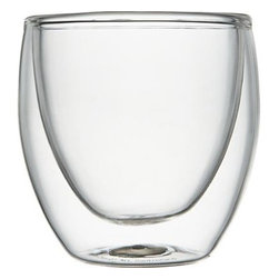Bodum® Pavina Espresso Cup - Handcrafted in industrial-strength borosilicate glass, this contemporary cup is double-walled in a cup-within-a-cup design that keeps contents hot and hands cool while eliminating condensation.