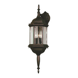 Kenroy - Kenroy 16267BL Custom Fit Traditional Outdoor Wall Sconce - With 5 different potential looks, Custom Fit will let your creative light shine.  Available in Black, Rust or White finishes, you can combine the finials, tails and glass into multiple configurations to find the one that will be just right for your outdoor space.  *Cast Aluminum