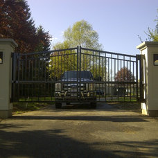 Contemporary Home Fencing And Gates by P.B. Welding Service