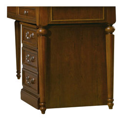 Hooker Furniture - Clermont Mobile File - White glove, in-home delivery!  For this item, additional shipping fee will apply.  The stately traditional home office group, Clermont, is featured in cherry veneers and hardwood solids in a clear medium finish with medium sheen and very light physical distressing with traditional bail pull hardware in an antique nickel finish.  One utility drawer, one locking file drawer with pendaflex letter/legal filing system, casters.