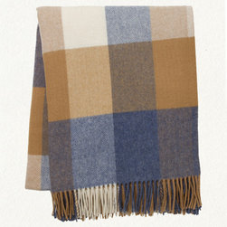 Avoca Blues Lambswool Throw - A plaid pattern is always a pleasant accent accessory, especially when on a warm cozy throw. Woven by a family-owned company on the Irish countryside, this soft lambswool throw comes from a mill that has been weaving since the 1700's. Definitely something to get wrapped up in!