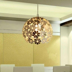 JollyHome - JollyHome Beautiful Ball Shape Unique Pendant Light Silver - Ball shape with lots of tiny petal.Good decoration for your room .Two different sizes are available