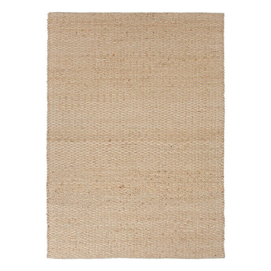 Jaipur Rugs - Natural Solid Pattern Jute/Cotton Beige /Brown Rug - AD02, 3.6x5.6 - Joyfully go barefoot with this nubby, ecofriendly rug. The delightful texture makes it as pleasing to look at as it is to walk over. It's handwoven with jute and recycled cotton so you can feel good about making your floors look great.