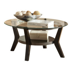 Standard Furniture - Standard Furniture Orbit 3-Piece Round Glass Coffee Table Set in Black - Orbit tables have a cool upbeat look with their hip modern styling and mixed media finishes.