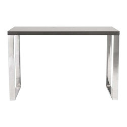 Eurostyle - Eurostyle Dillon Office Desk w/ Chromed Steel Legs in Gray Lacquer - Office Desk w/ Chromed Steel Legs in Gray Lacquer belongs to Dillon Collection by Eurostyle 8 square feet of solid, functional, never-go-out-of-style work surface. Available in a white lacquer or gray lacquer top, the Dillon desk sits firmly on chromed stainless steel base. Office. Studio. Reception. Let's get to work! Desk (1)
