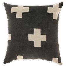 Crosses Cushion in Smoke 50cm