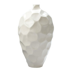 Lazy Susan - Lazy Susan LZS-958002 Honeycomb Vase - Large - Made from porcelainHandcrafted