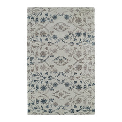 Kaleen - Hand-Tufted Linen Rug, 2'x3' - The Divine collection features some of the most beautiful ombre patterns in the world today. A new twist on a traditional masterpiece, each rug is hand-tufted in India of 100% wool. Accented with a striking touch of viscose, these amazing highlights of detailed pattern to each and every rug will leave you feeling absolutely divine.