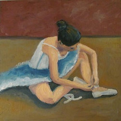 Ballerina (Original) By Susan Spohn - I normally like to paint flowers and critters, but this ballerina was a nice diversion from my other paintings. This small painting would look wonderful in any aspiring ballerina's bedroom.
