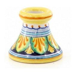 Artistica - Hand Made in Italy - Deruta Vario: Toothpick/Candle Holder - Deruta Vario: