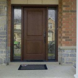 Traditional Thermatru Fiberglass Door Unit Front Doors