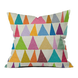 DENY Designs - DENY Designs Nick Nelson Analogous Shapes In Bloom Outdoor Throw Pillow Multicol - Shop for Cushions and Pads from Hayneedle.com! Color a little outside the lines with the DENY Designs Nick Nelson Analogous Shapes In Bloom Outdoor Throw Pillow. Crafted with water- and mildew-proof woven polyester this plush square pillow boasts organically hewn shapes in an array of bright and pastel shades against a neutral background. Toss it on your favorite chair or lounger indoors or out. Spot clean with mild detergent. Available in 18- and 20-in. sizes.About DENY DesignsDenver Colorado based DENY Designs is a modern home furnishings company that believes in doing things differently. DENY encourages customers to make a personal statement with personal images or by selecting from the extensive gallery. The coolest part is that each purchase gives the super talented artists part of the proceeds. That allows DENY to support art communities all over the world while also spreading the creative love! Each DENY piece is custom created as it's ordered instead of being held in a warehouse. A dye printing process is used to ensure colorfastness and durability that make these true heirloom pieces. From custom furniture pieces to textiles everything made is unique and distinctively DENY.