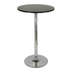 Winsome - Spectrum Pub Table 24 in.  Round - New Spectrum Pub Table is designed to match the airlift stools in this line. The table top is made of sturdy MDF material and is 24 in. in diameter. The base is chrome. The 40 in. height is perfect for entertaining and casual dining. Ships ready to assemble with tools and hardware.