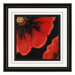 Paragon - Sparkling Poppy II - Framed Art - Each product is custom made upon order so there might be small variations from the picture displayed. No two pieces are exactly alike.