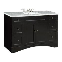"Benton Collection - 47"" Alvin Bathroom Undermount Sink Vanity Cabinet Model V91712C - Dimensions: 47 x 22 x 32.25"" H"