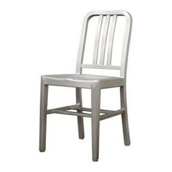 Wholesale Interiors - Baxton Studio Modern Cafe Chair in Brushed Aluminum - LC-9 - Modern dining chair