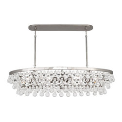 Robert Abbey - Robert Abbey Bling Large Chandelier S1007 - Polished Nickel Finish