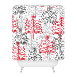 DENY Designs - DENY Designs Rachael Taylor Doodle Trees Shower Curtain - Who says bathrooms can't be fun? To get the most bang for your buck, start with an artistic, inventive shower curtain. We've got endless options that will really make your bathroom pop. Heck, your guests may start spending a little extra time in there because of it!