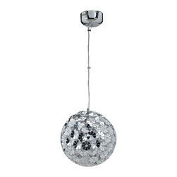 Modway - Modway EEI-316 Fleur Pendant Light in Silver - Fabulously shimmering, the Fleur modern ceiling pendant is sure to attract attention, while keeping your room radiant. Patterned with a charming silver flower pattern, Fleur fits five 20 watt bulbs for maximal diffusion from within every part of Fleur's aluminum sphere.
