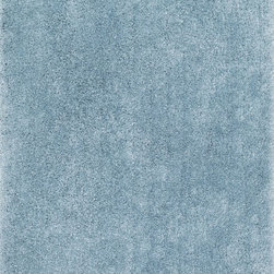 "Loloi Rugs - Loloi Rugs Cozy Shag Collection - Light Blue, 5' x 7'-6"" - Hand-tufted of 100% polyester in China, the Cozy Shag Collection is even more comfortable than it looks. The soft feel is complemented by a smart selection of colors including classic neutrals like ivory, beige, and taupe as well as bold choices like oasis and prune. With such an amazing feel underfoot, Cozy Shag is the ideal bedside rug, making that first step out of bed in the morning so much easier. Or place Cozy Shag in the family room and create the ultimate relaxing atmosphere. Wherever you place this rug, it's sure to become the 'coziest' room in the home."